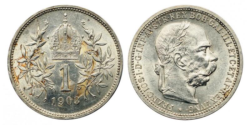 Ferenc József 1 korona 1903 vjn.
