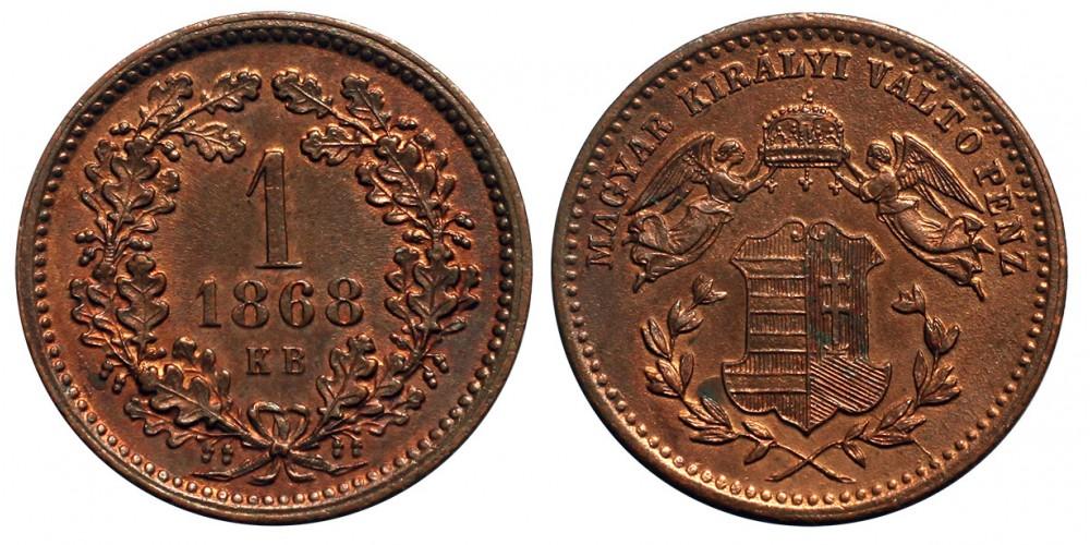 1 Krajcár 1868 KB