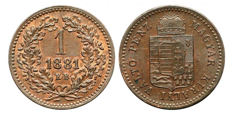 Ferenc József 1 krajcár 1881 KB