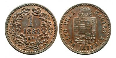 Ferenc Joseph 1 kreuzer 1882 KB