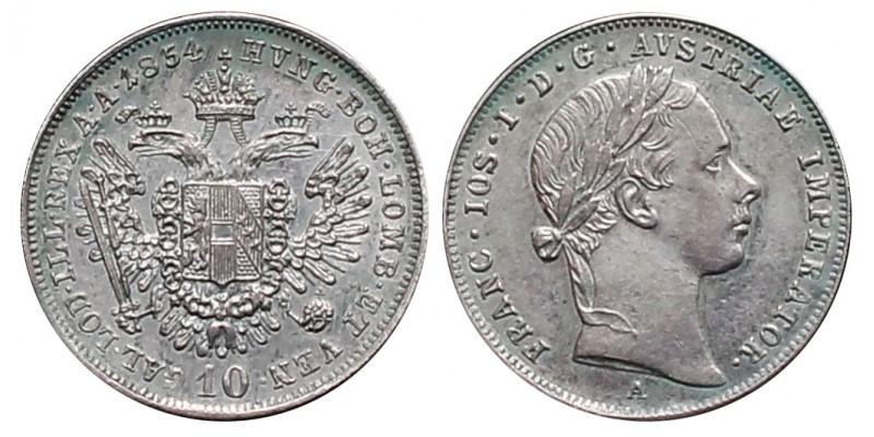 Ferenc József 10 krajcár 1854 A