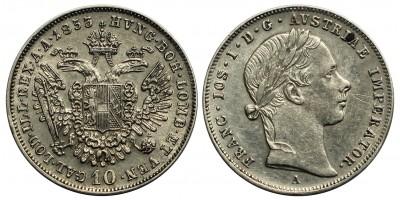 Ferenc József 10 krajcár 1853 A