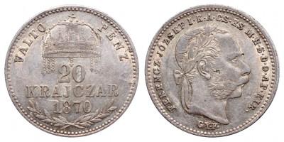 Ferenc József 20 krajcár 1870 Gyf