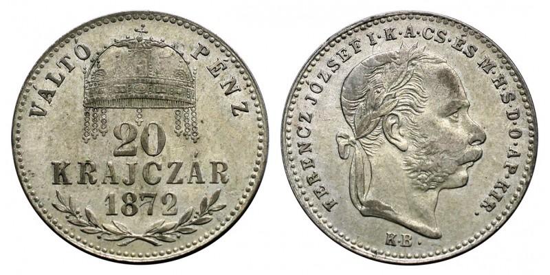 Ferenc József 20 krajcár 1872 KB VP.