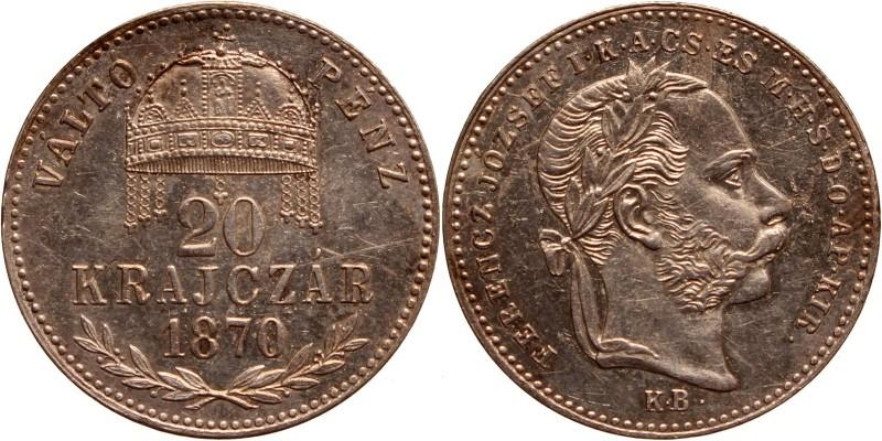 Ferenc József 20 krajcár 1870 KB