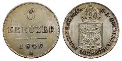 6 krajcár 1849 A