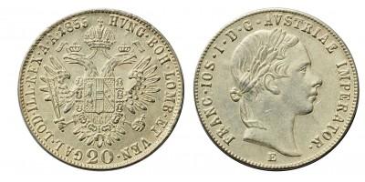 Ferenc József 20 krajcár 1855 E