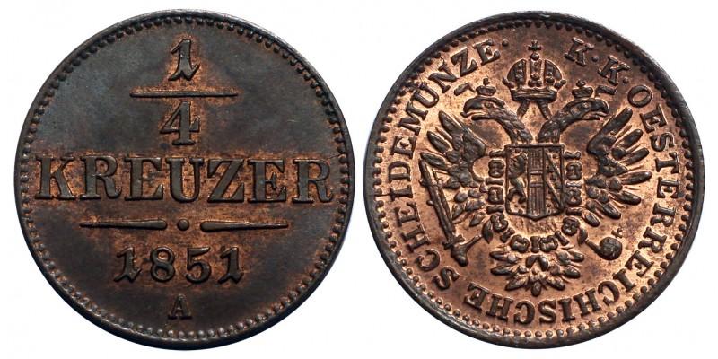 Ausztria 1/4 Krajcár 1851 A