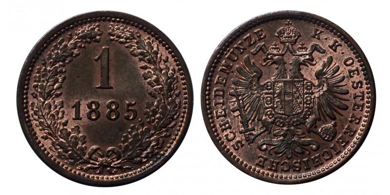 Ferenc József 1 krajcár 1885