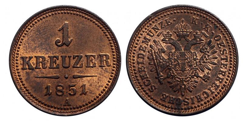 Ausztria 1 Krajcár 1851 A