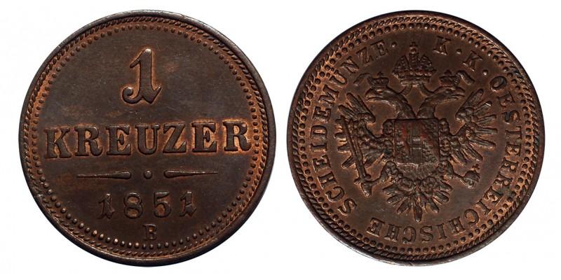 Ausztria 1 Krajcár 1851 B