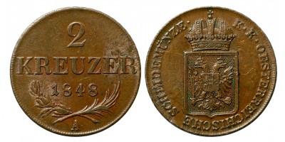 Ausztria 2 krajcár 1848 A