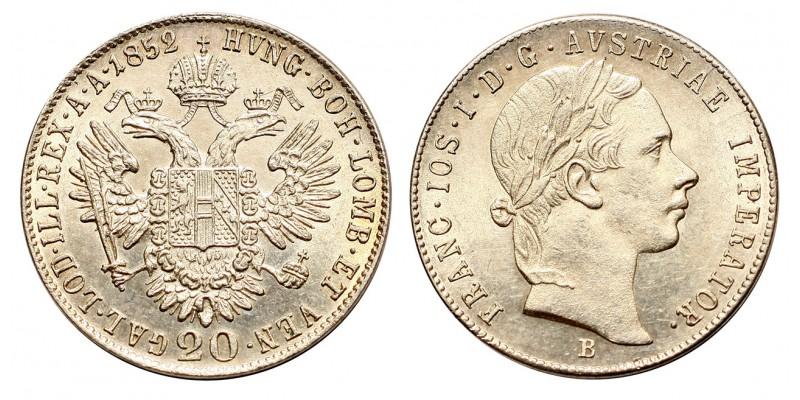 Ferenc József 20 krajcár 1852  B