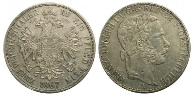 Ausztria 2 Vereinstaler 1867 A