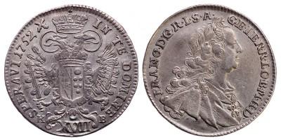 Lotharingiai Ferenc XVII krajcár 1752 KB