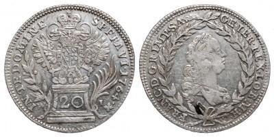 20 krajcár 1764 Bécs