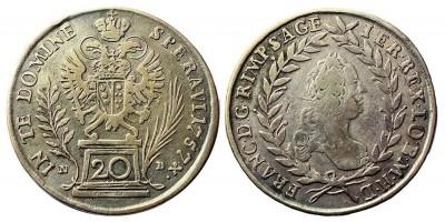 Lotharingiai Ferenc  20 krajcár 1757 NB