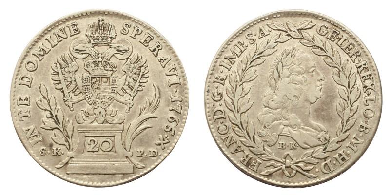 20 krajcár 1765 S.K.P.D/B.K.