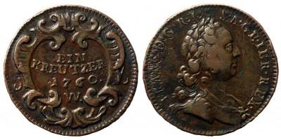 Lotharingiai Ferenc  krajcár 1760 W