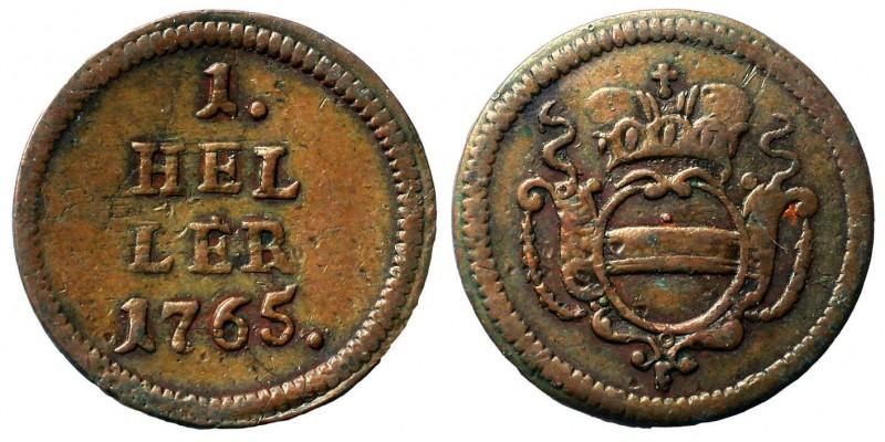 Mária Terézia 1 heller 1765