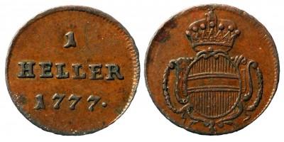 Mária Terézia 1 heller 1777