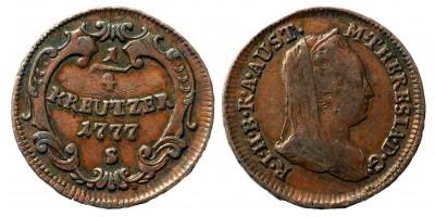 Mária Terézia 1/4 krajcár 1777 S