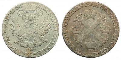 Mária Terézia 1/2 korona Tallér 1766