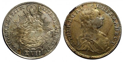 Mária Terézia XVII krajcár 1751 KB