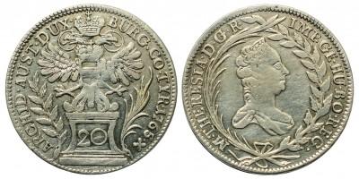 Mária Terézia 20 krajcár 1765 KB.