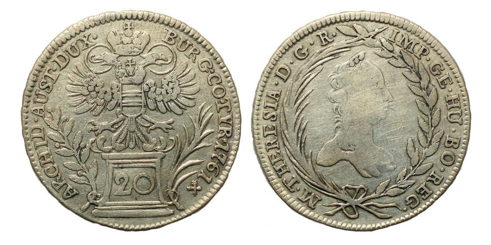 Mária Terézia 20 Krajcár 1761 Bécs