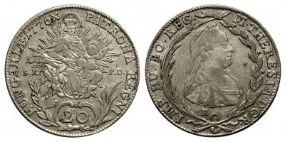 Mária Terézia 20 krajcár 1776 B.S.K.P.D.