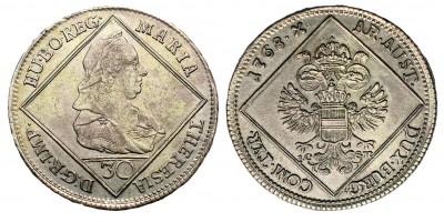 Mária Terézia 30 krajcár 1768 I.C.S.K.