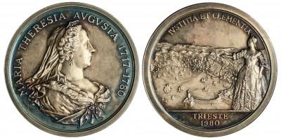 Olaszország Trieste Mária Terézia halálának 200. évfordulója emlékérem 1980