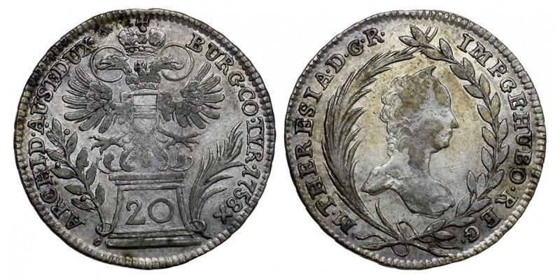 Mária Terézia 20 krajcár 1758 Bécs
