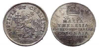Mária Terézia  koronázási zseton 1741 Pozsony