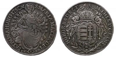 Mária Terézia 1/2 tallér 1780 S.K.P.D./B