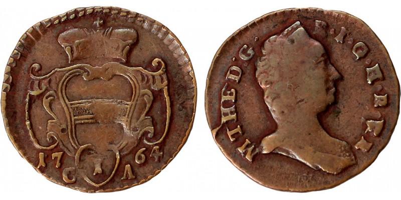 Mária Terézia 1 pfennig 1764 C-A Gyulafehérvár R!
