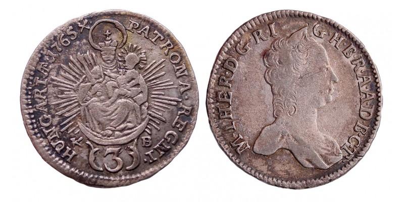 Mária Terézia 3 krajcár 1765 KB.