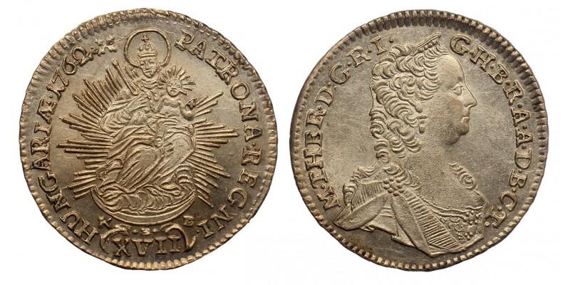 Mária Terézia XVII krajcár 1762 KB.