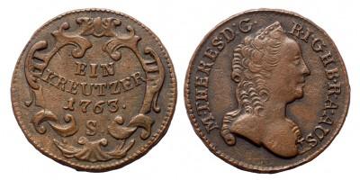 Mária Terézia krajcár 1763 S