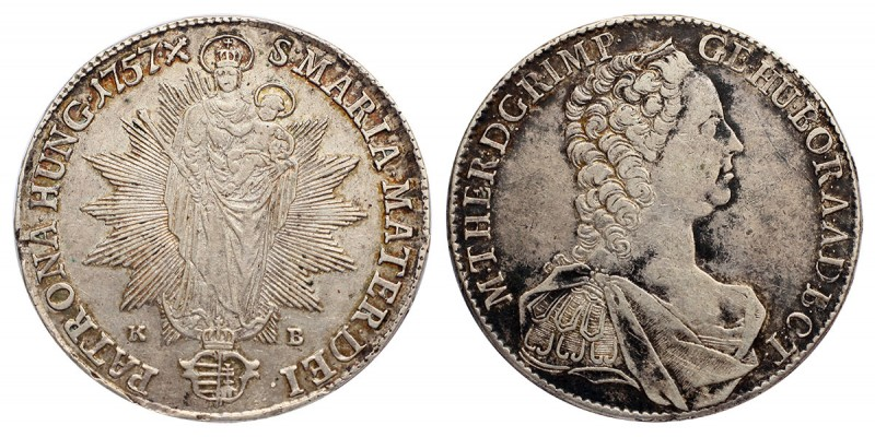 Mária Terézia tallér 1757 KB.