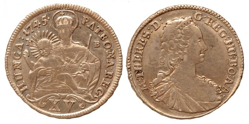 Mária Terézia xv krajcár 1745 KB
