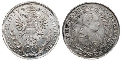 Mária Terézia 20 krajcár 1772