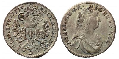 Mária Terézia 3 krajcár 1753