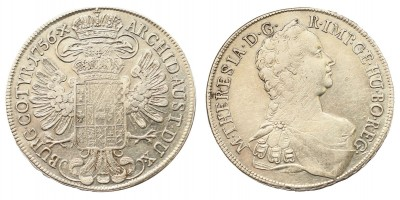 Mária Terézia tallér 1756 Bécs