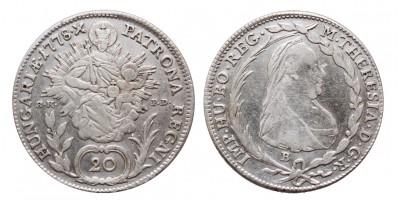 20 krajcár 1778