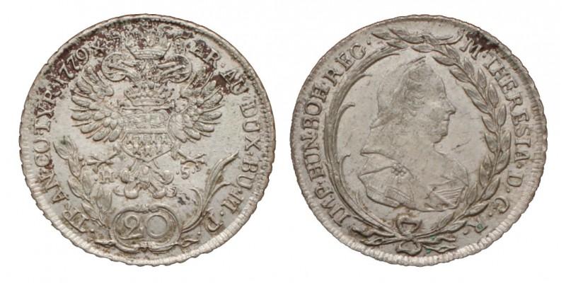 20 krajcár 1779 H-S