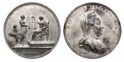 Mária Terézia adóreform Erdélyben emlékérem 1765