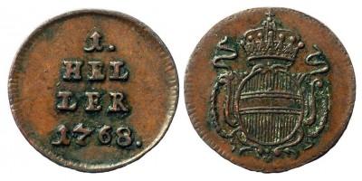 Mária Terézia 1 heller 1768