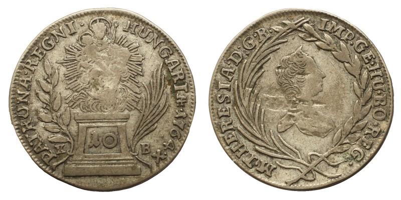 Mária Terézia 10 krajcár 1764 KB